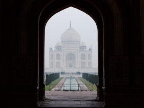 Early morning mist at the Taj Mahal