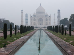 First person at the Taj